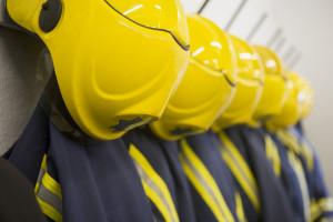 bigstock-Line-Of-Firefighting-Uniforms--3917125